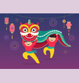 chinese new year background greeting card vector image