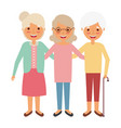 cute group the grandmothers women character vector image vector image