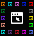 dialog box icon sign Lots of colorful symbols for vector image vector image
