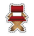 director chair icon image vector image
