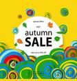 discount banner autumn sale vector image