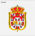 emblem of granada city of spain vector image