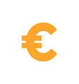 euro currency icon design template isolated vector image