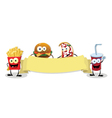 Fast Food Banner vector image vector image