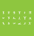 fitness and sports workout icons set exercises vector image vector image
