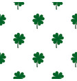 four leaf clover pattern seamless vector image vector image