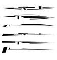 futuristic dynamic lines geometric horizontal vector image