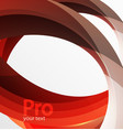 futuristic hi-tech glass wave abstract background vector image vector image