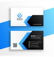 geometric blue business card modern template vector image vector image