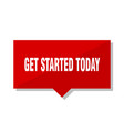 get started today red tag vector image vector image