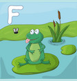 green frog on a lake childrens vector image