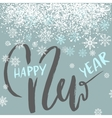 Happy New Year lettering design with white vector image vector image
