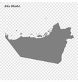 high quality map is a emirate united arab vector image