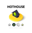 Hothouse icon in different style vector image