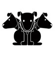 isolated cerberus icon vector image vector image