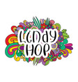 lindy hop tangle pattern background vector image vector image