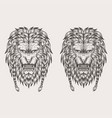 lion hand draw vector image