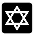 Magen David symbol button vector image vector image