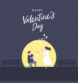 man kneeling down and give flower to pretty woman vector image