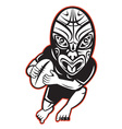 maori rugby player running vector image vector image