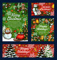 merry christmas holiday sketch greeting vector image vector image
