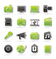 Multimedia and technology Icons vector image vector image