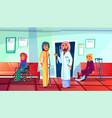 muslim patient visit doctor vector image