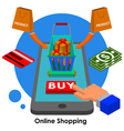 online shopping2 vector image vector image