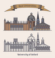 oxford university building architectureeducation vector image