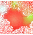 red romantic background for meditation design vector image