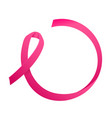 ribbon of breast cancer round consept for text vector image vector image