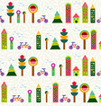 Seamless pattern city background geometry colorful vector image vector image
