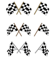 Set of racing checkered flags vector | Price: 1 Credit (USD $1)