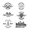 Set of vintage auto service labels vector image vector image