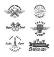 set vintage auto service labels vector image vector image