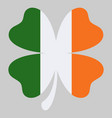 shamrock clover icon in style ireland flag vector image vector image
