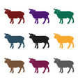 sheep icon in black style isolated on white vector image vector image