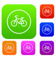 sign bike set collection vector image vector image