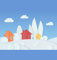 simple colorful houses vector image vector image