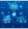 snowfall blue vector image