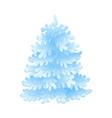snowy fir-tree for seasonal vector image vector image