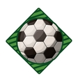 soccer tournament emblem with ball vector image vector image