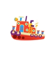 Steamer Fishing Toy Boat vector image vector image