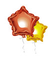 two realistic 3d foil balloons in the shape of a vector image vector image