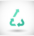 upcycling flat icon vector image vector image