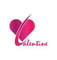 valentine logo vector image vector image