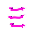 vintage ribbons logo vector image vector image