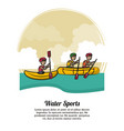 water sports banner vector image vector image