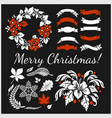 white christmas design elements image vector image