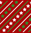 white green red line star seamless pattern vector image vector image